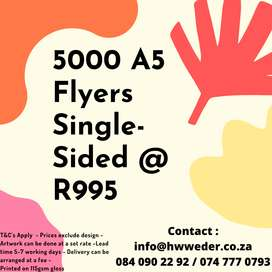 5000 Flyers for R995