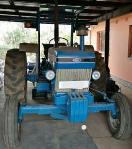 Ford 5010 tractor with dbl stack cane trailer and spare rims and tyres