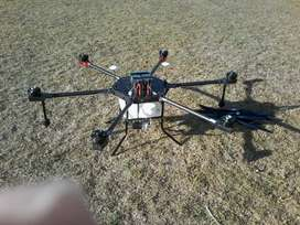 Agricultural crop spraying drone