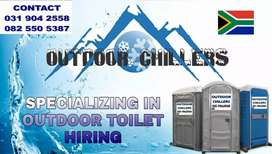 Outdoor toilets for hire