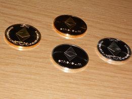 Ethereum Коллекционная монета (Новые!) Gold & Silver из серии Crypto!