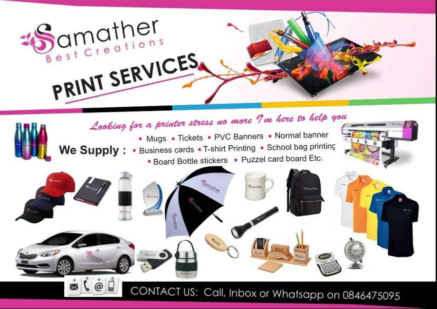 For all your Printing & Branding needs 0