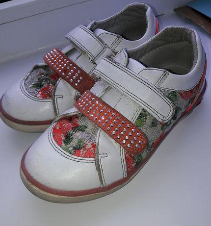 кожанные ботинки B&G на девочку р.29 Новомосковск - изображение 1