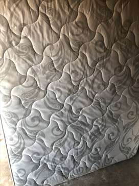 High Quality King Size Mattress with Base - Grey