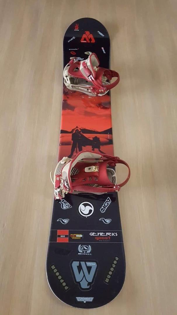 Snowboard vcetne vazani 0