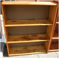 """Image of Pine Bookcase """"Brown"""" (P3153/6)"""