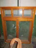 Окно деревянное б/у из сосны с коробом и подоконником
