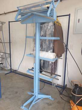 Laundry Shop ,Machine for plastic wrapping clothes