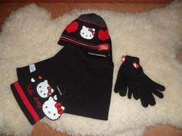 Новый комплект GEORGE.Шапка, шарф и перчатки.Китти