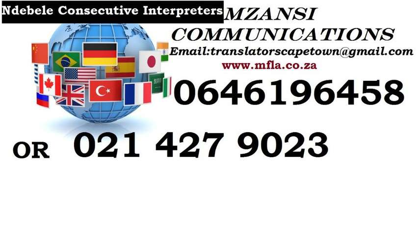 Ndebele Consecutive interpreters in Northern Cape.