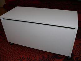 Skrzynia Kufer na zabawki Biała 60 x 35