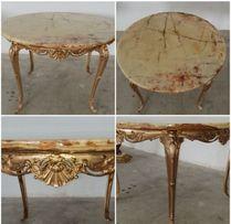 стол бронза оникс столешница 20мм, диаметр 900мм