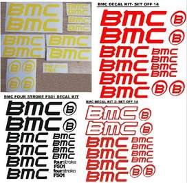 BMC bicycle frame decals stickers vinyl graphics kits