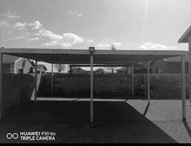 Steel Double Carport with roof