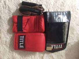Title Boxing Gloves & Title Skipping Rope