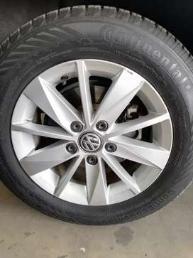 Vw golf 7 rums with tyres