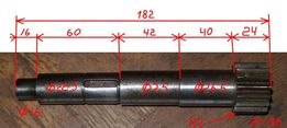 Вал-шестерня привода на зубчатую рейку к токарному станку