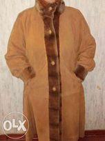 Пальто женское с натуральным мехом(норка)