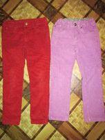 Фиолетовые вельветовые джинсы на 110-116