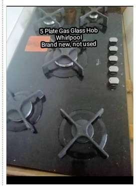 Hob Whirlpool glass gas hob