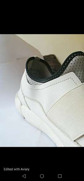 White Luciano Rossi Causal Sneakers