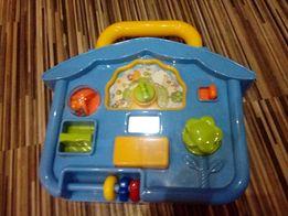 Zabawka - pozytywka dla dziecka. Zabawka edukacyjna. Domek. Tanio.