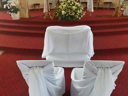 Pokrowiec uniwersalny na klęcznik - biały, matowy na ślub, do Kościoła