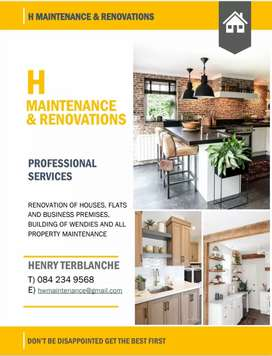 Home renovations and maintenance