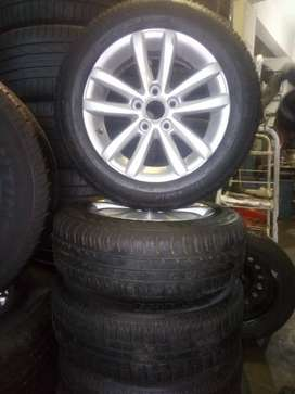 A set of 175/65/14 tyres and mags polo vivo