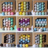 Гирлянда тайские хлопковые фонарики на 20 шариков от батареек или сеть