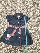 джинсовый сарафан( платье) на девочку 2 год