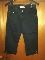 Spodnie - krótkie - czarny jeans rozm. M 38