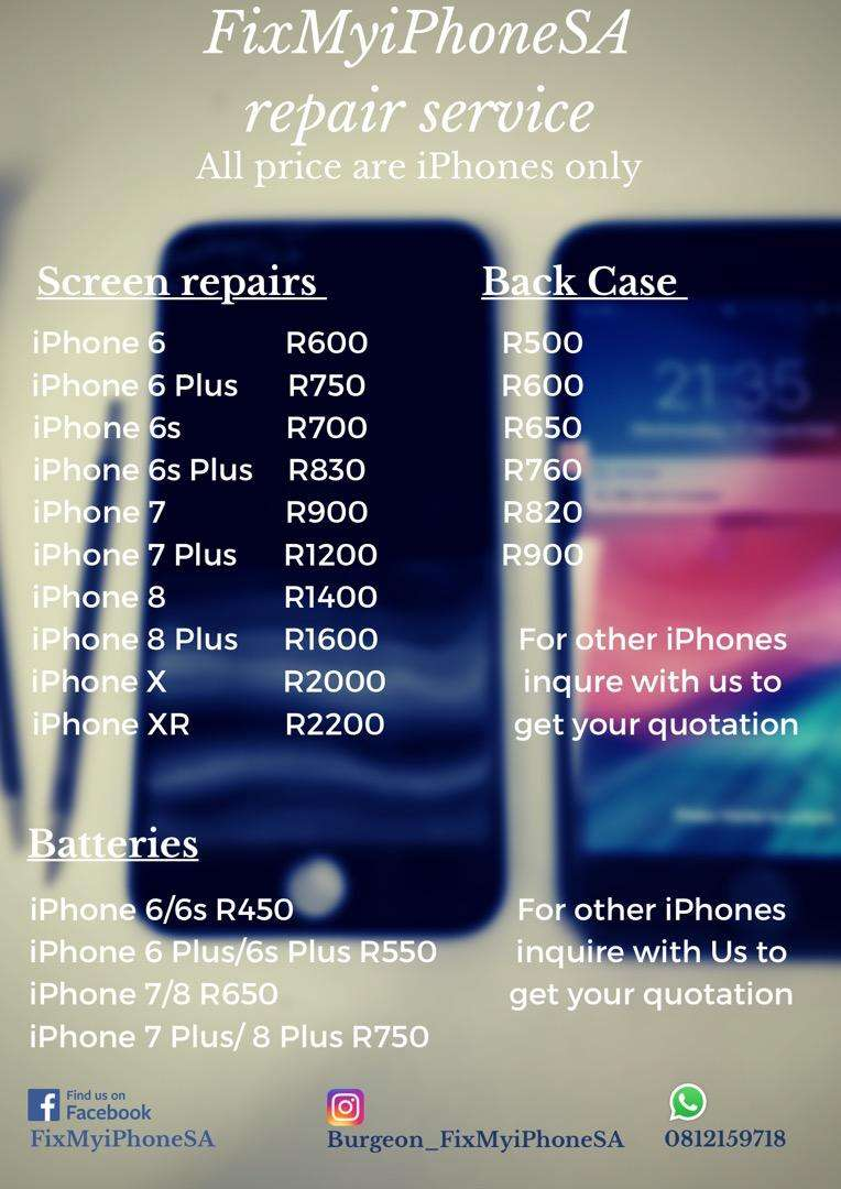 iPhone repairs from 6 to X