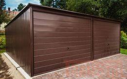 Garaż blaszany 6x5 Kolor Brąz | Producent | Garaże blaszane | 6x6