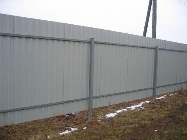 Заборы , калитки , ворота из профнастила и сетки Фастов - изображение 2