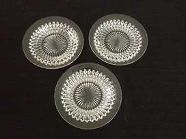 Antique glass crystal plates