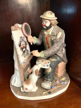 Flambro Limted Edition The Emmett Kelly Jr. Artist at Work Display