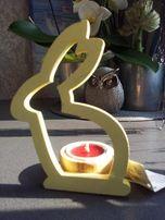 Śiąteczny świecznik zajączek