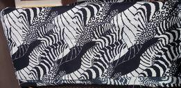 Штапель (платьевая ткань). Абстракция (зебра). Материал для платья.
