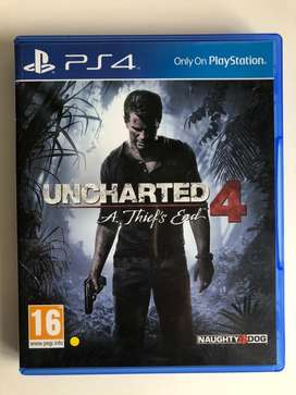 PS4 Uncharted 4 Game For Sale