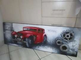 Awesome Vintage Car Painting