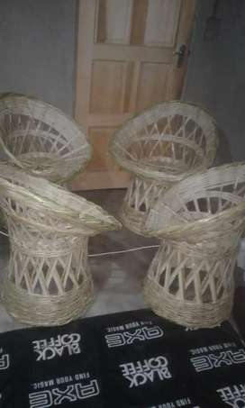 Bamboo chairs and tables