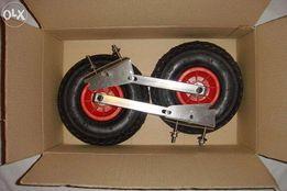 Транцевые колёса автомат (быстросъёмные) из нержавейки для лодки ПВХ