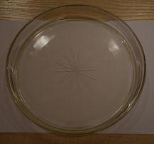 Półmiski, półmisek szklany, okrągły talerz dekoracyjny np. na ciasto