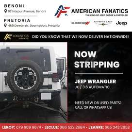 Now breaking Jeep Wrangler for parts! Call or WhatsApp us!