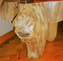 Stolik z pnia (Jesion 80-letni) / coffee table / ART / natural