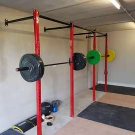 Sqaut Racks triple galore. Heavy duty. Perfect for small gyms.
