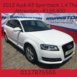 2012 Audi A3 Sportback 1.4 Tfsi Attraction - R135,900