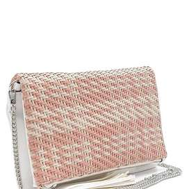 Pink And White Clutch Bag