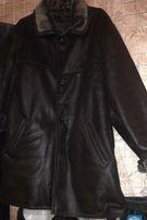 Зимняя мужская дубленка (куртка) кожзам